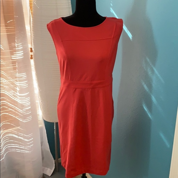 LOFT Dresses & Skirts - Ann Taylor Loft Sheath Dress Coral NWT Size 4 C